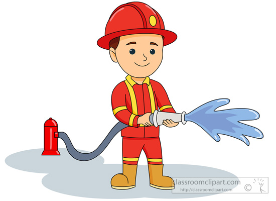 Firefighter clipart #11