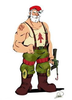 Firefighter clipart badass Santa Like let's A Santa