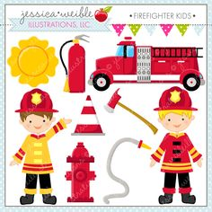 Firefighter clipart badass Digital Girls firefighter Firefighter cliparts