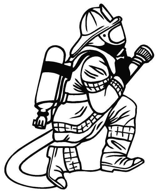 Firefighter clipart vector Black Firefighter Free Art And