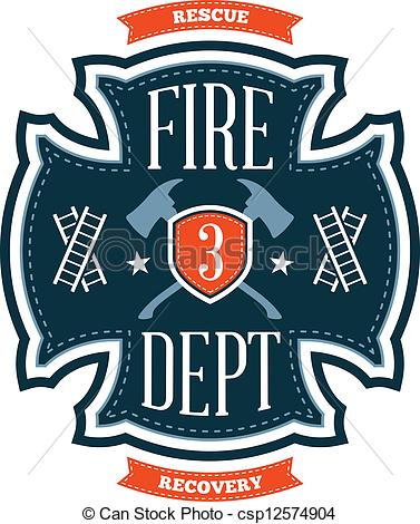 Firefighter clipart emblem Csp12574904 of Fire crest Fire