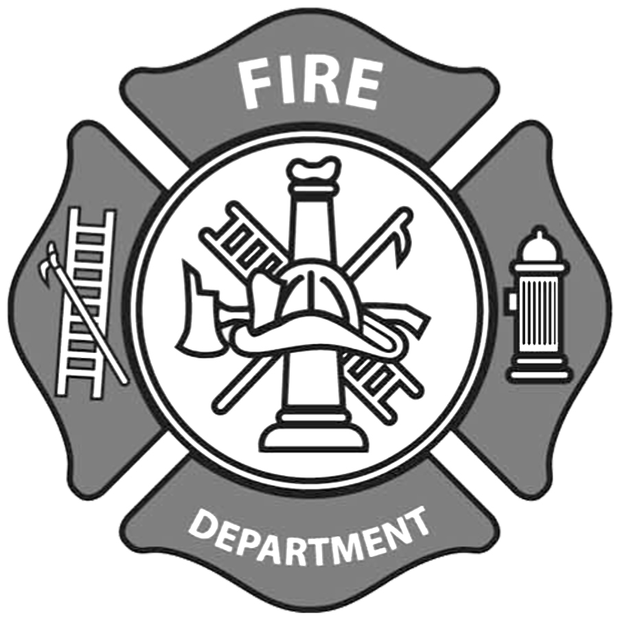 Firefighter clipart emblem Emblems logos Set Fire clipart