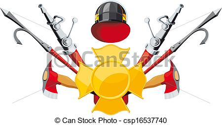 Firefighter clipart fire fighting equipment Emblem Collection clipart Clip equipment