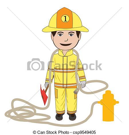 Firefighter clipart fireman uniform Vector fighter of Vector