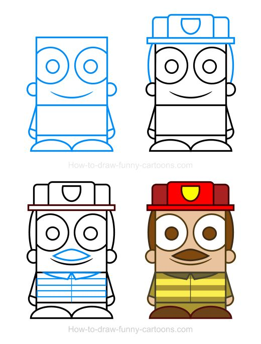 Firefighter clipart funny Firefighter Firefighter How a draw