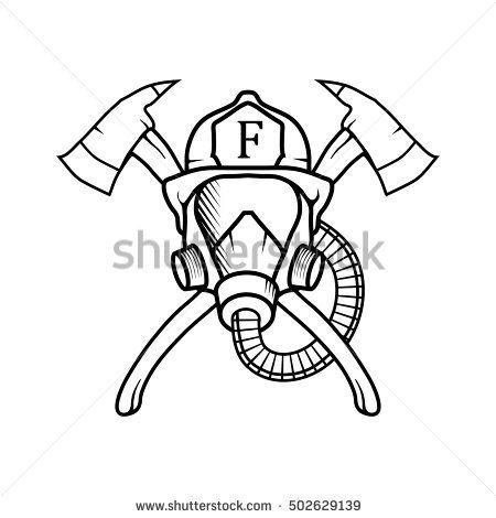 Firefighter clipart logo  clipart vector 25+ love