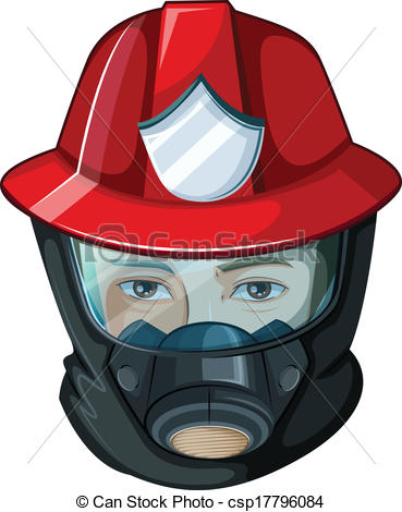 Firefighter clipart mask Fireman csp17796084 a head