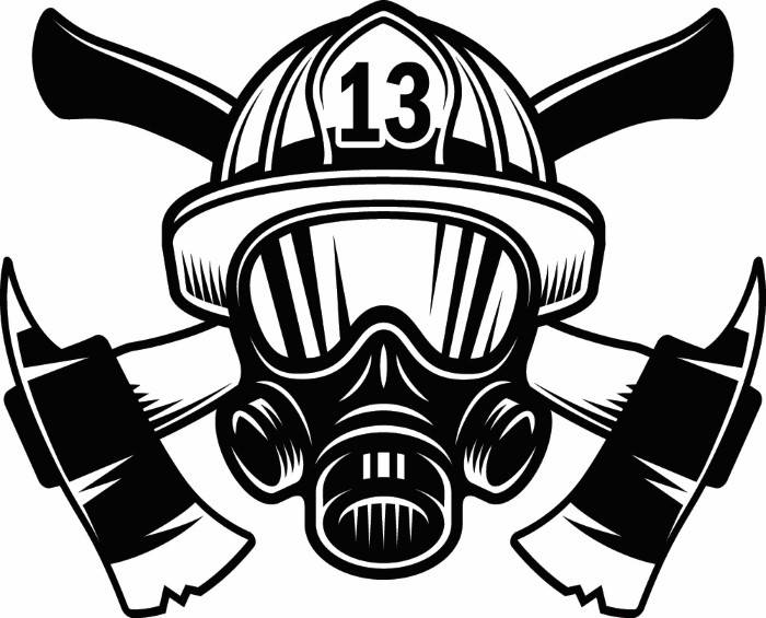 Firefighter clipart mask Axes Firefighter digital a is