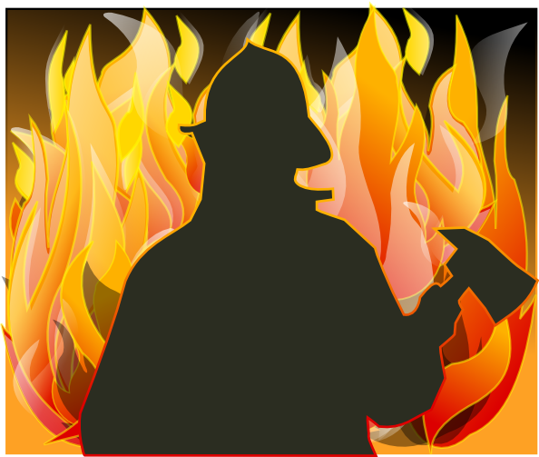 Firefighter clipart outline  com Download Clip Fire