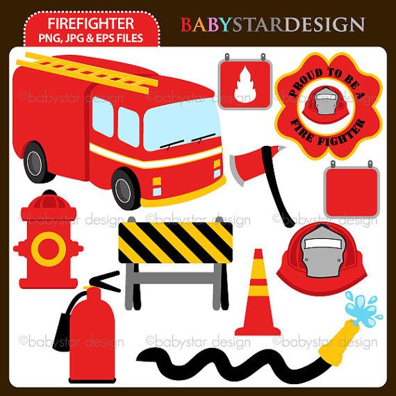 Firefighter clipart plane Firefighter Etsy Firefighter on by