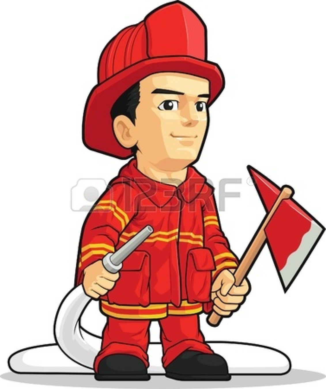Firefighter clipart red Free Cartoon Panda Dog Clipart
