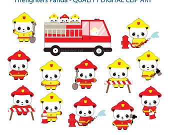 Firefighter clipart santa 20% Clip Clip Firefighter Pandas