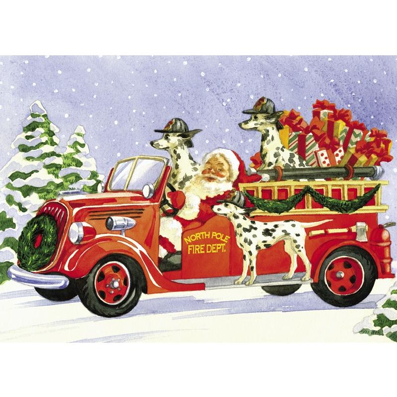 Firefighter clipart santa Animated Santa fire claus fire