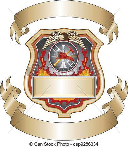 Firefighter clipart vector  EPS Shield III csp9286334