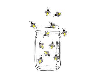 Firefly clipart Fireflies Image Jar Lightning Firefly