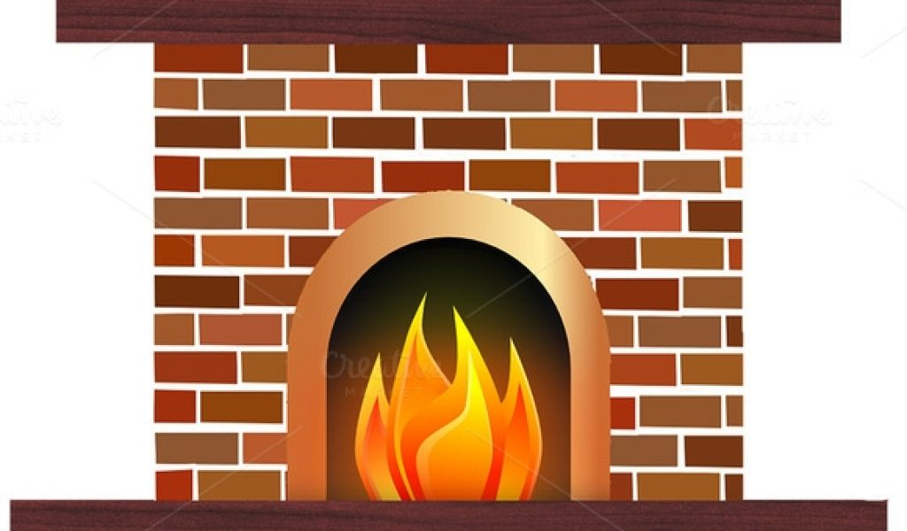 Fireplace clipart santa claus Fireplace art design clipart clip