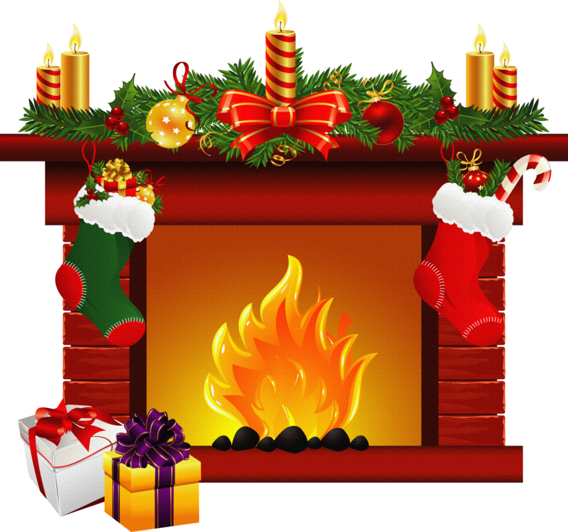 Fireplace clipart santa claus Fireplace 6 6 clipart clipart