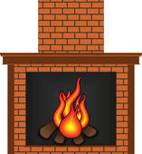 Fireplace clipart santa claus Fireplace Clip · Mantel Fireplace