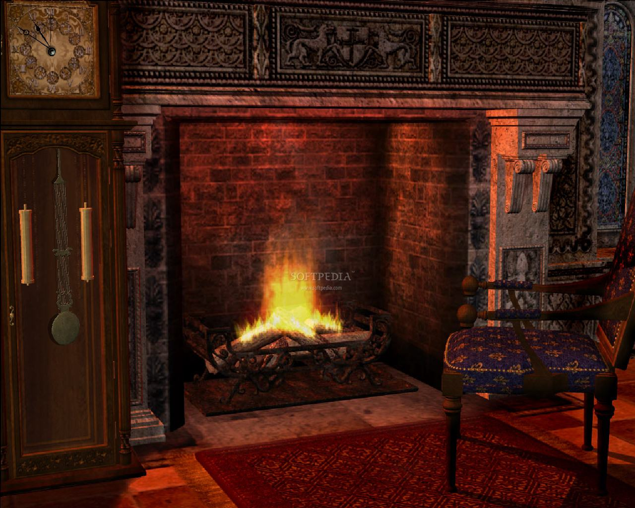 Fireplace clipart animated WallpaperSafari com Animated desktop hd