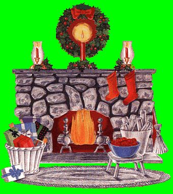 Fireplace clipart animated CHIMENEAS on Christmas about Animated