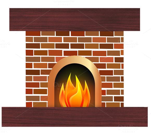 Brick clipart brick chimney Clipartion Creative Fireplace Best Fire