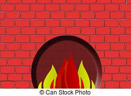 Brick clipart brick fireplace Bricks Stock  fire with