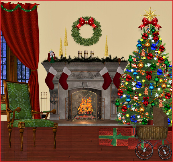 Fireplace clipart christmas fireplace scene Clip  Cliparts Download Free