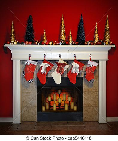 Fireplace clipart christmas fireplace scene Christmas  Fireplace Beautiful A