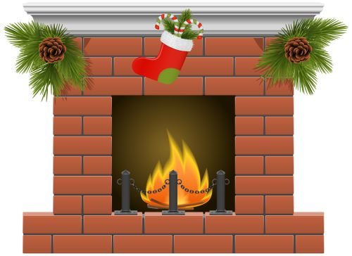 Fireplace clipart christmas fireplace scene Images about PNG Christmas on