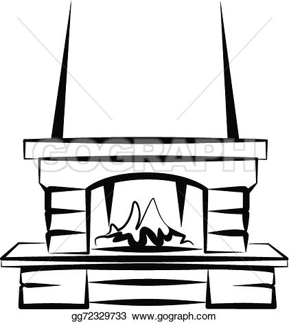 Fireplace clipart drawn Of Drawing Clipart Clipart Drawing