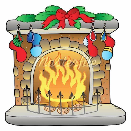 Fireplace clipart drawn Panda Brick Images Cartoon Fireplace