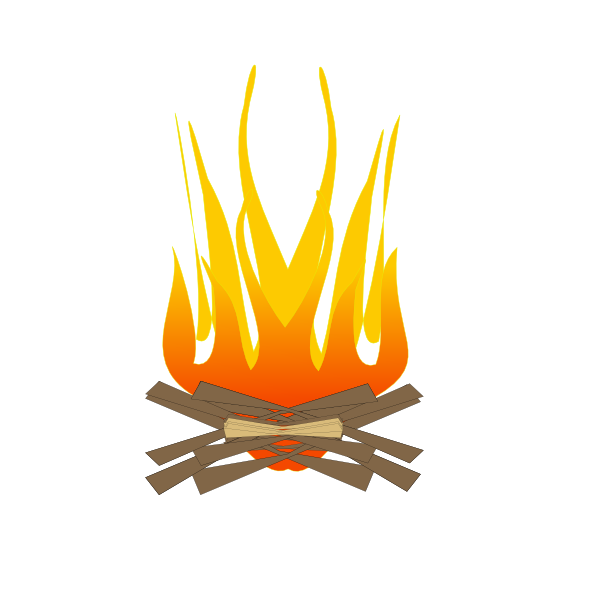 Campfire clipart log fire Fireplace clip in art burning