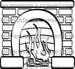 Fireplace clipart google image Fireplace 38 art Christmas stockings