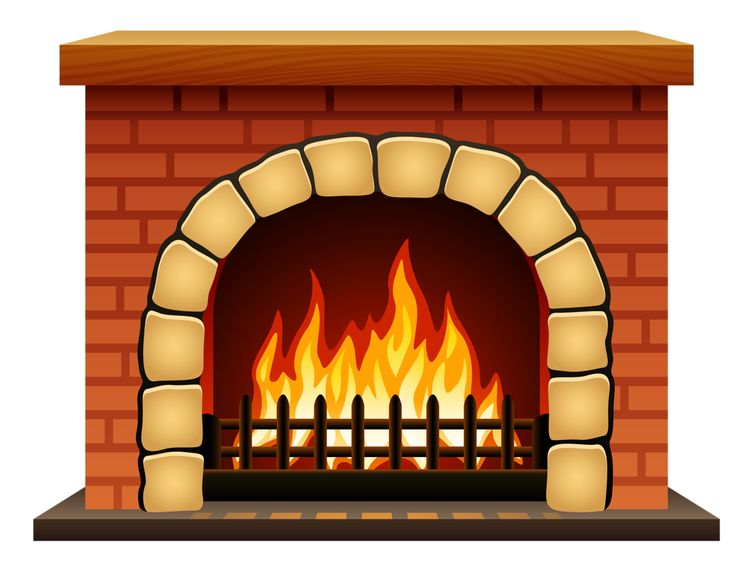 Fireplace clipart hearth 117 Red on clip Brick