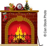 Fireplace clipart holiday Illustrations art Fireplace Stock Fireplace
