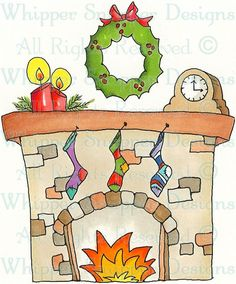Fireplace clipart holiday Christmas Gingerbread Shop Images Fireplace