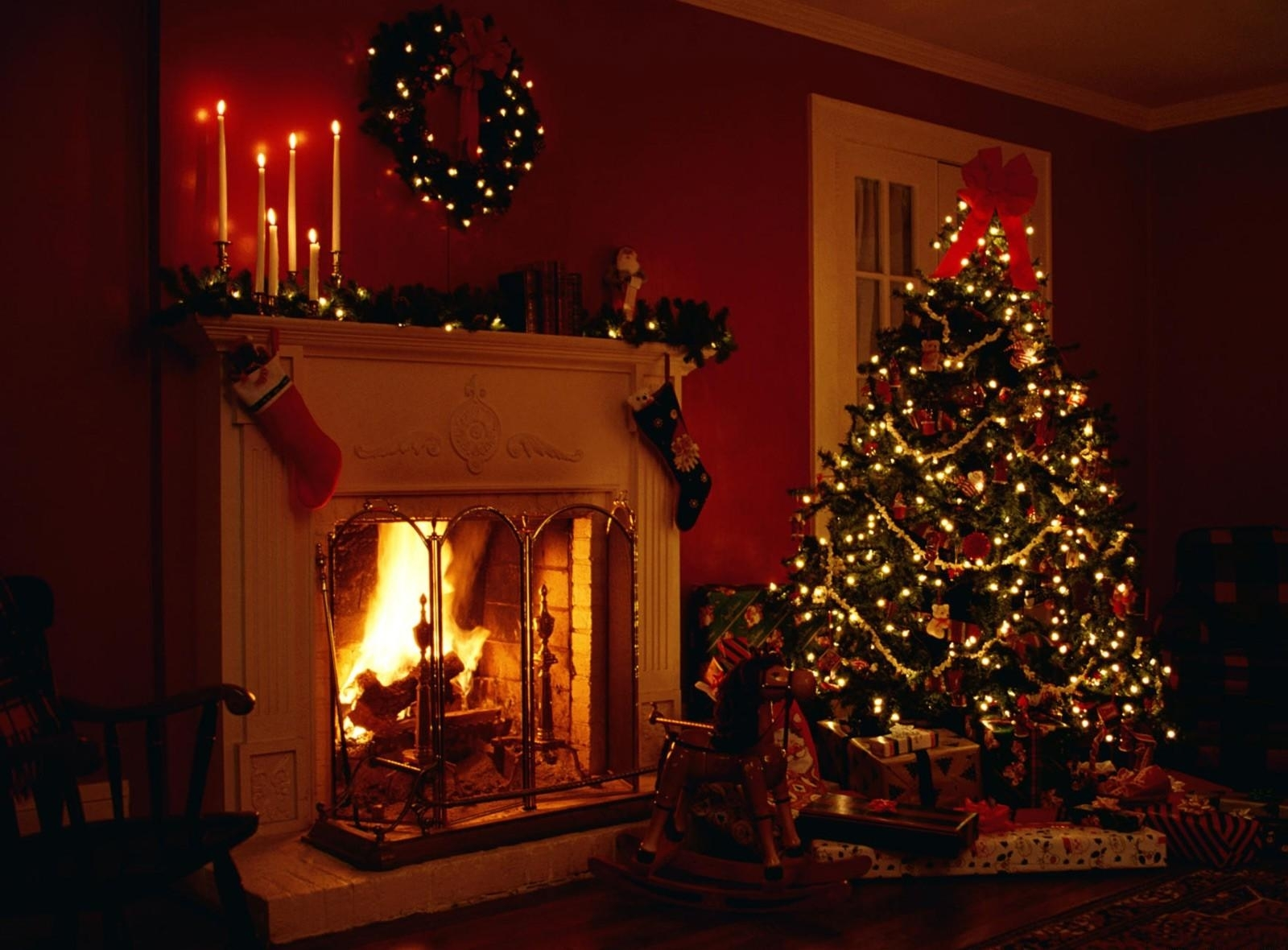Fireplace clipart holiday Animated Fireplace Clipart Fireplace Christmas