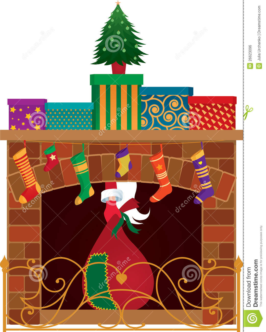 Fireplace clipart holiday Fireplace & Pie Holiday fireplace