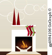 Fireplace clipart holiday Christmas Drawing stockings Drawing Holiday