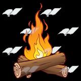 Campfire clipart log fire Cliparts Logs Logs Clipart Fire