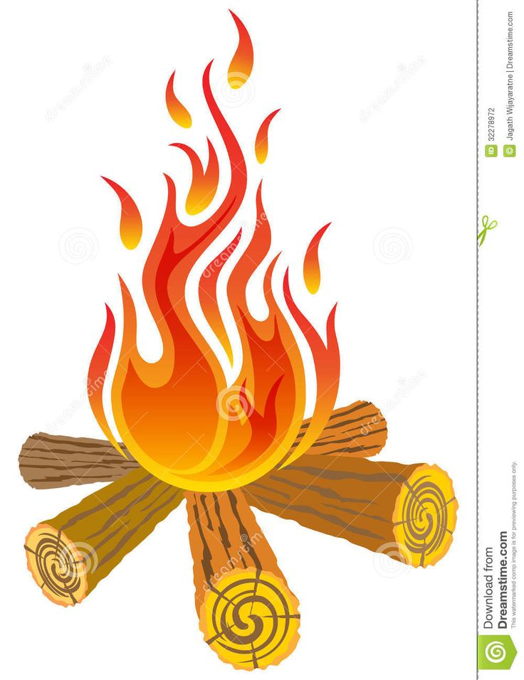 Campfire clipart vector Pinterest Fire Isolated White best