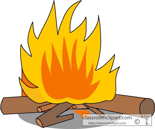Flames clipart fireplace fire 2 500x415 Log fire clipart