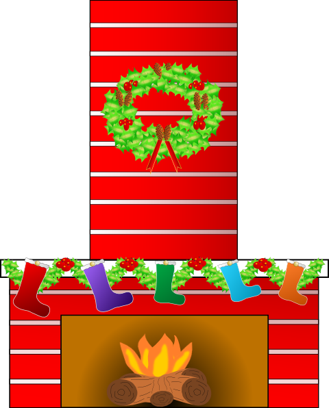 Fireplace clipart office christmas Clip Place Christmas as: art
