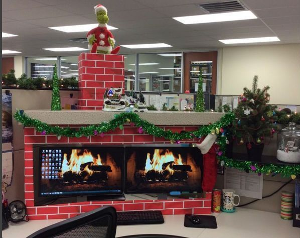 Fireplace clipart office christmas Best 25+ Ideas Decorating The