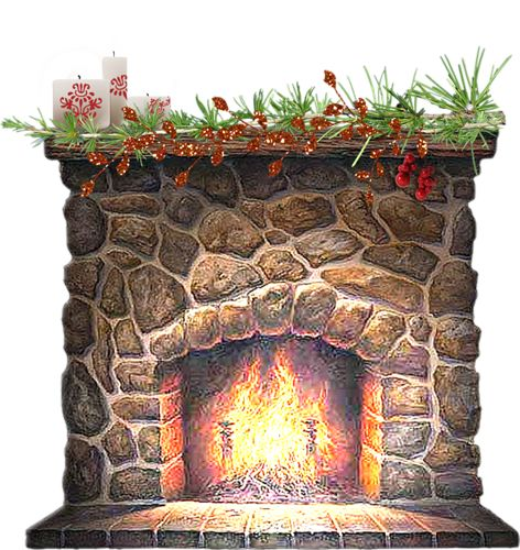 Fireplace clipart office christmas Village christmas more and christmas