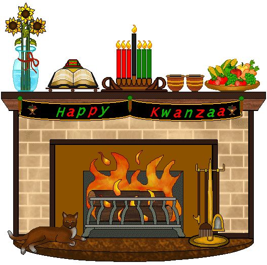 Fireplace clipart office christmas Clip December: more and Clip