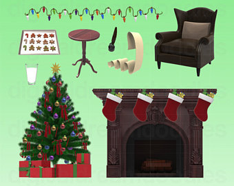 Fireplace clipart office christmas And Milk Clip Fireplace clipart