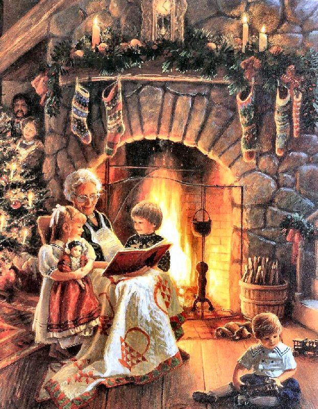 Fireplace clipart old fashioned Christmas Old Angels 255 on