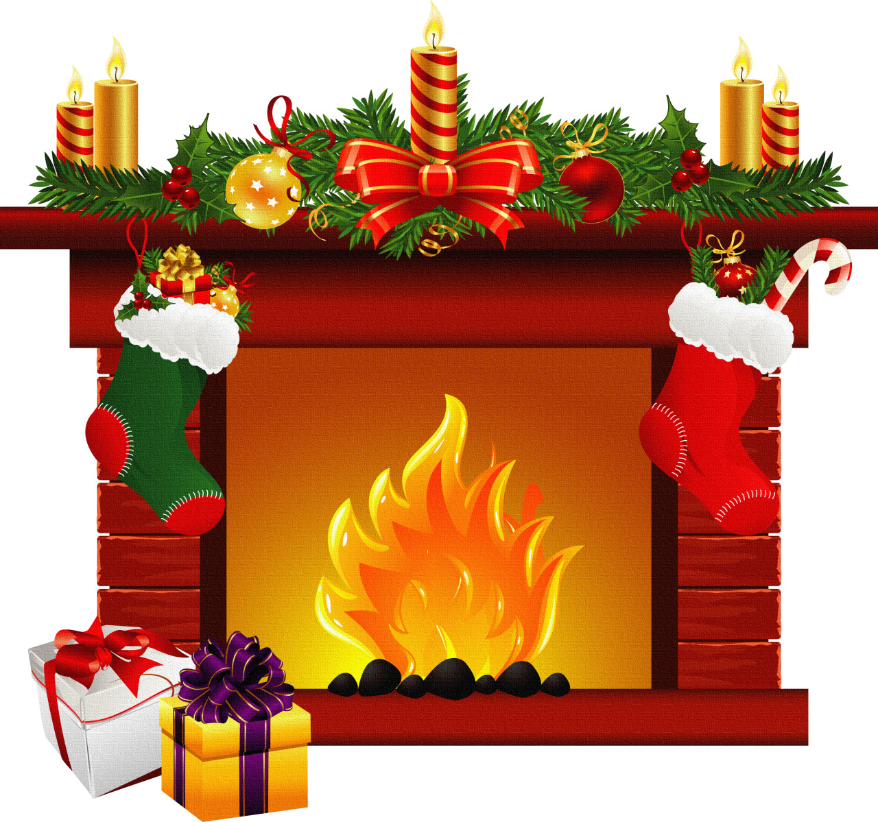 Fireplace clipart old fashioned Fireplace clipart clipart image 2