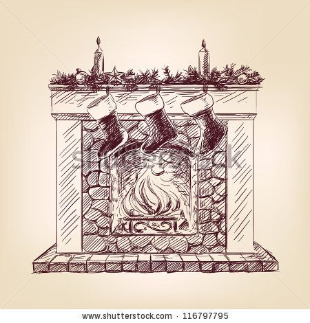 Fireplace clipart old fashioned On Pinterest and this 75